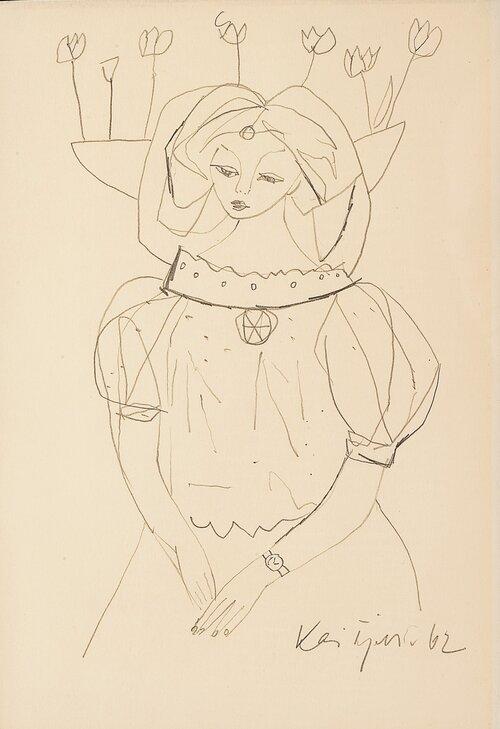 Kvinne med armbåndsur 1962