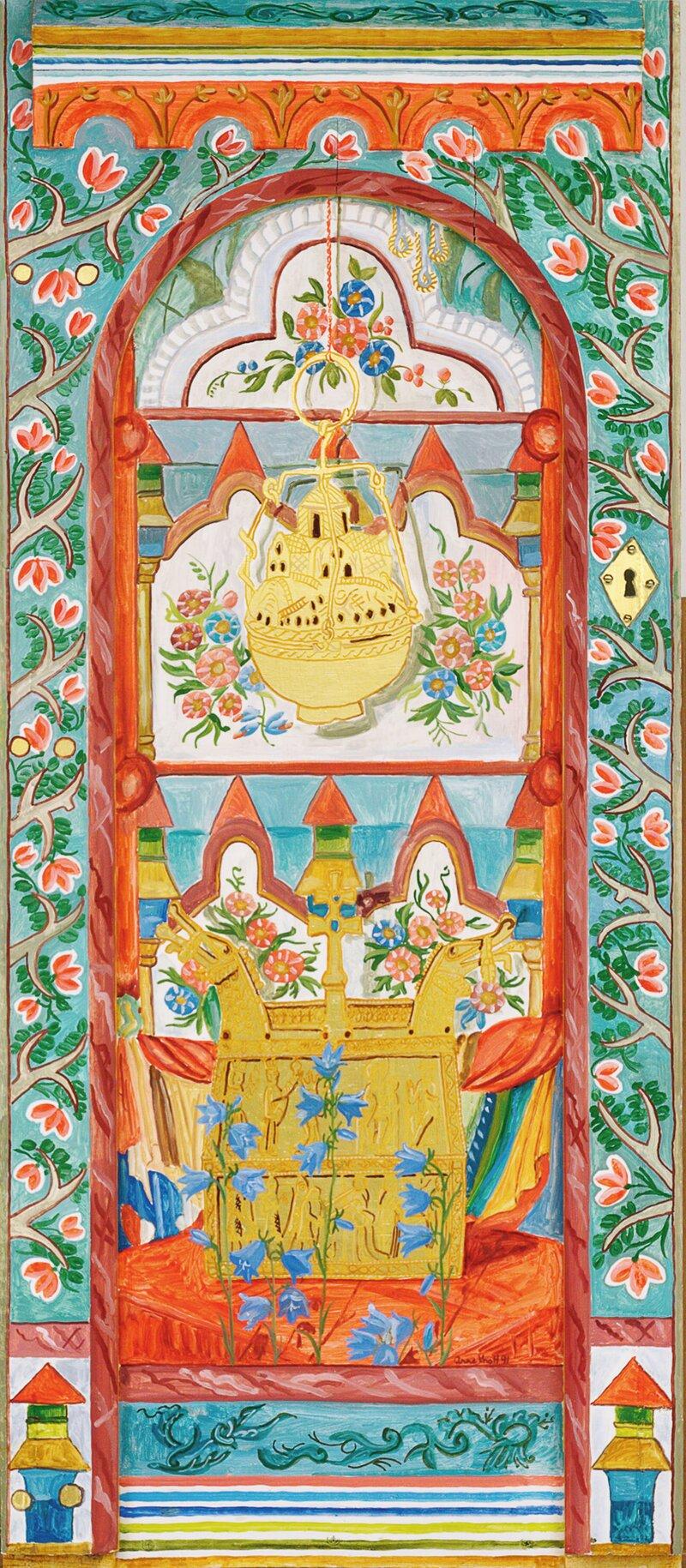 Relikvieskrin fra Heddal i Valdres 1991