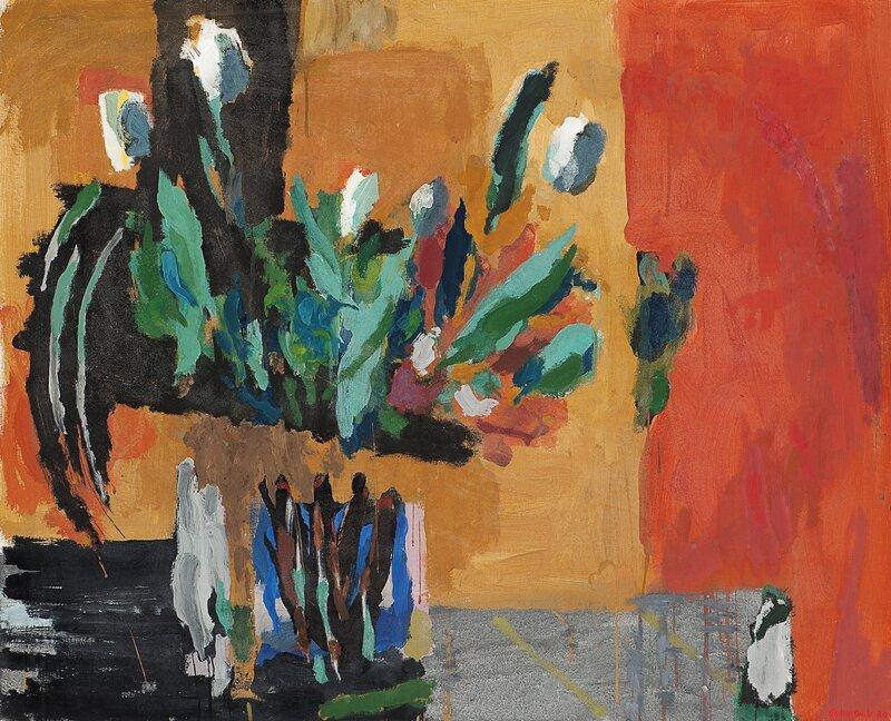 Oppstilling med hvite tulipaner 1980