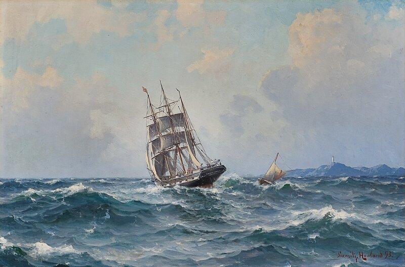 Seilskute og losbåt 1893
