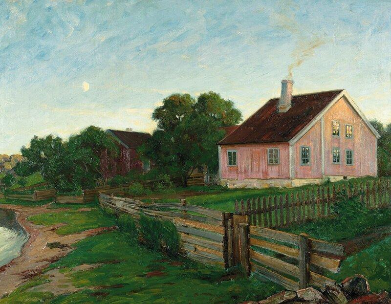 Hus i kystlandskap