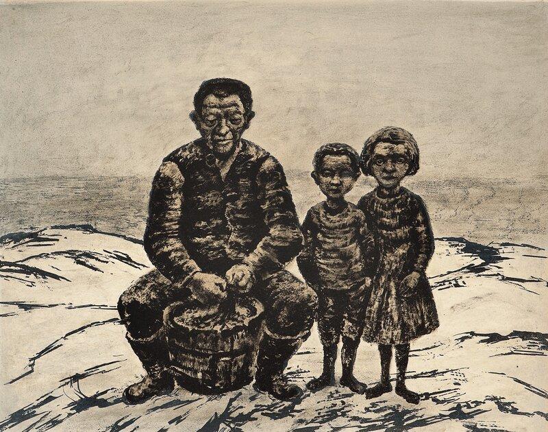 Fiskerfamilie, Lofoten 1958