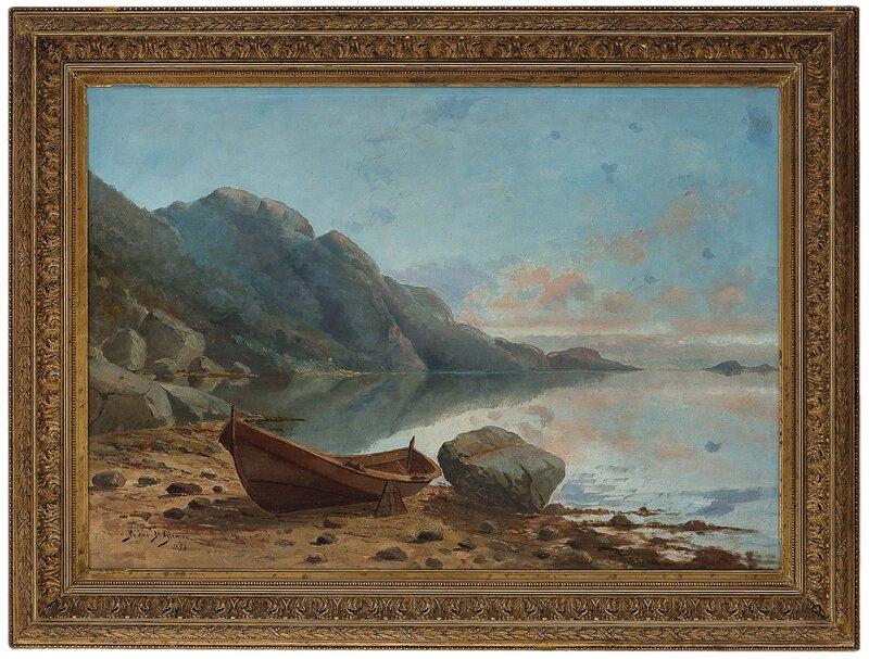Oselver trukket opp på strand 1893