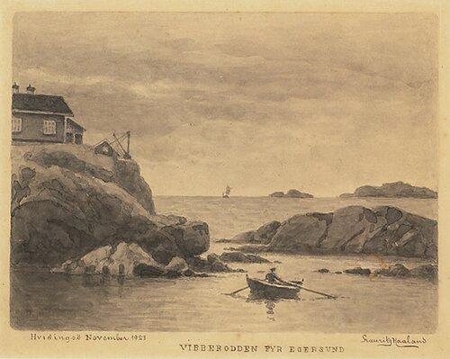 Vibberodden fyr Egersund 1923