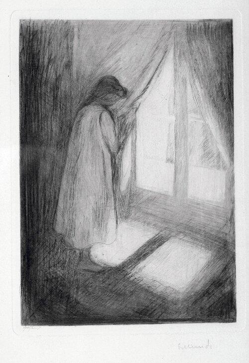 Piken ved vinduet