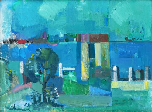 From a harbour 1955