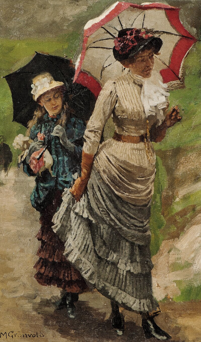 To kvinner med parasoll