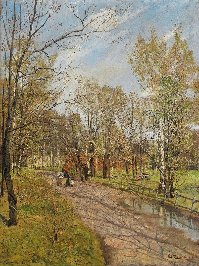 Fra Slottsparken. Mai 1881