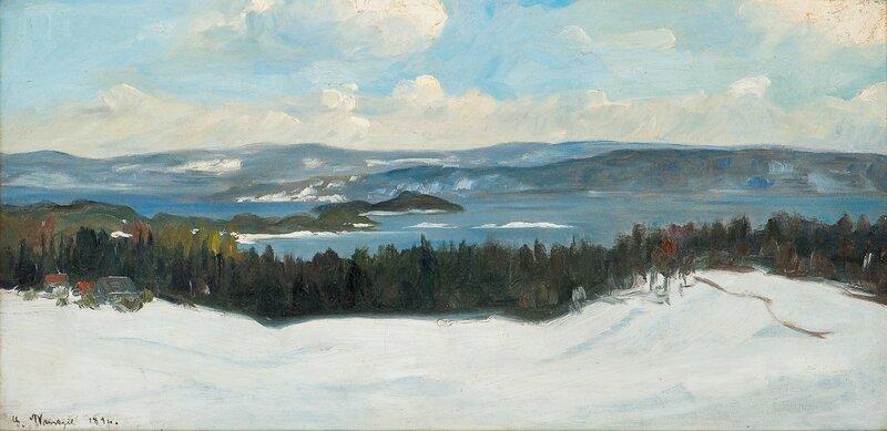 Utsyn over Christianiafjorden fra Askerlandet 1896