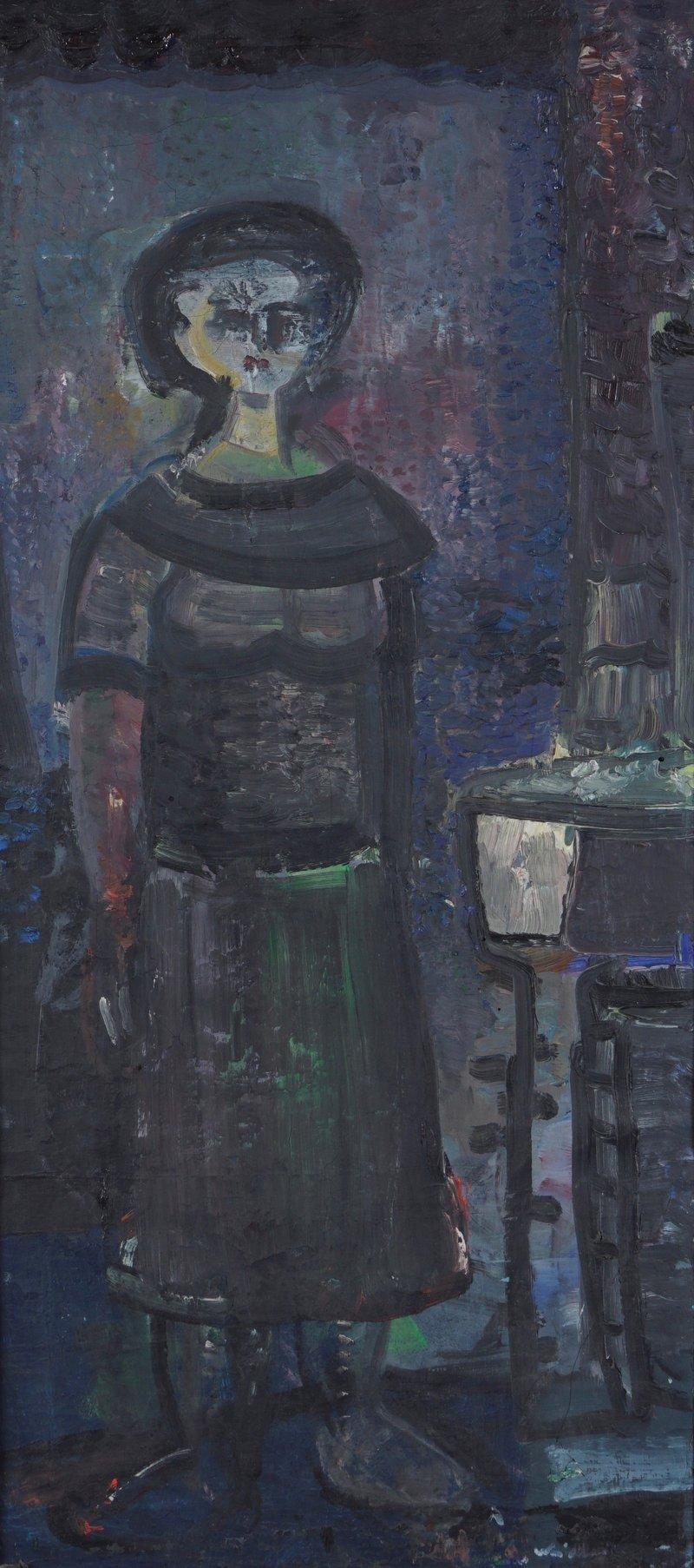 Kvinne i interiør