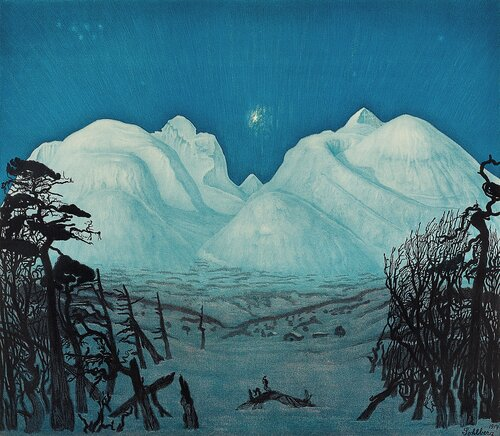 Winter night at Rondane 1917