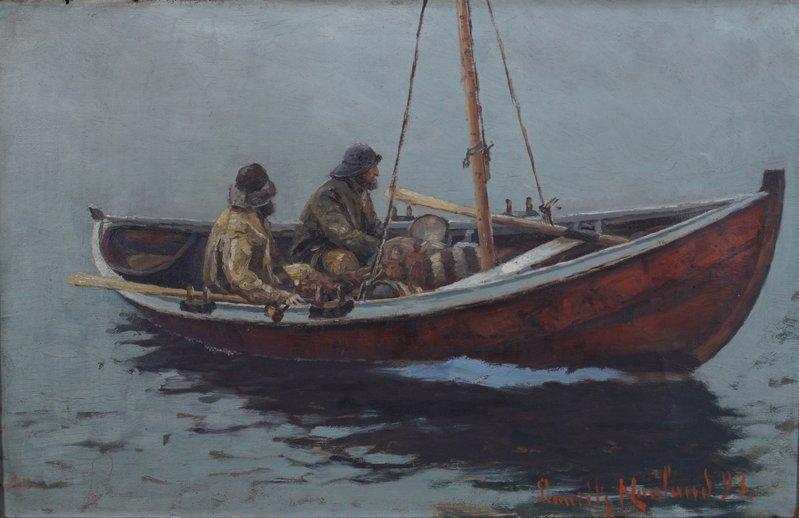 Båt med to fiskere 1893
