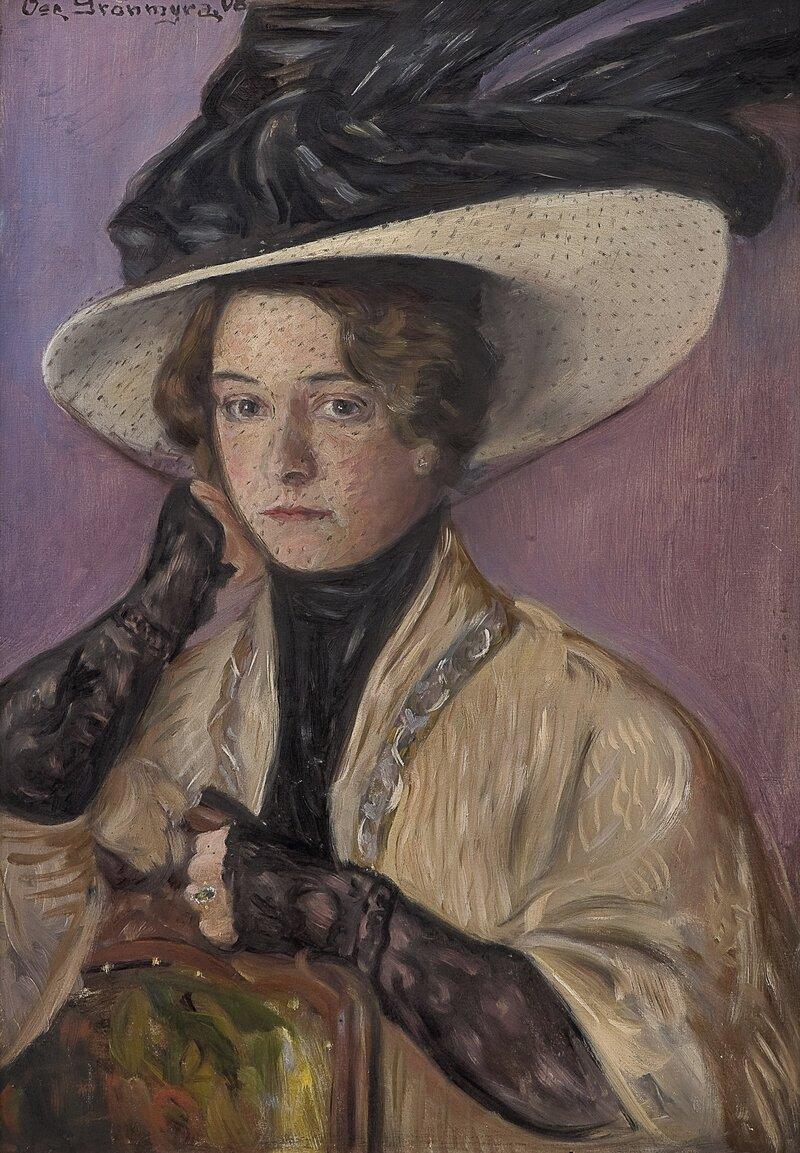 Kvinneportrett 1908