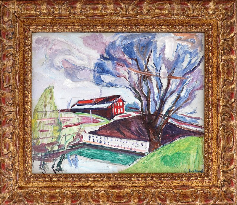 The Red House (for sale together with the drawing under, The Red House)