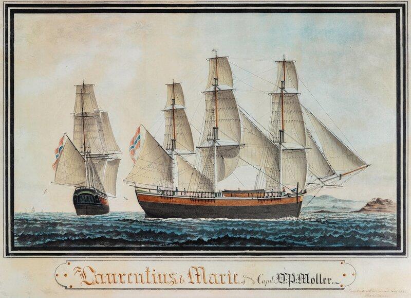 Fullriggeren Laurentius & Marie af Christiania 1830