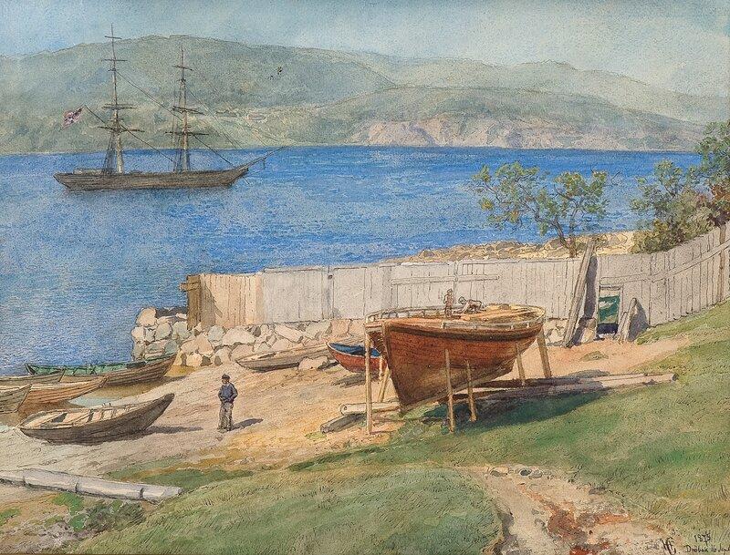 Fra Drøbak 1875