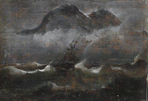 Seilbåt i kystlandskap