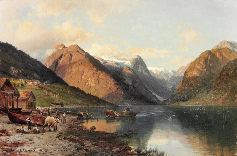 Fjærlandsfjorden i Sogn 1873