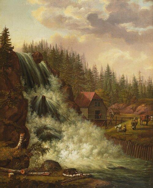 Norsk landskap, Rogna vannfall 1812