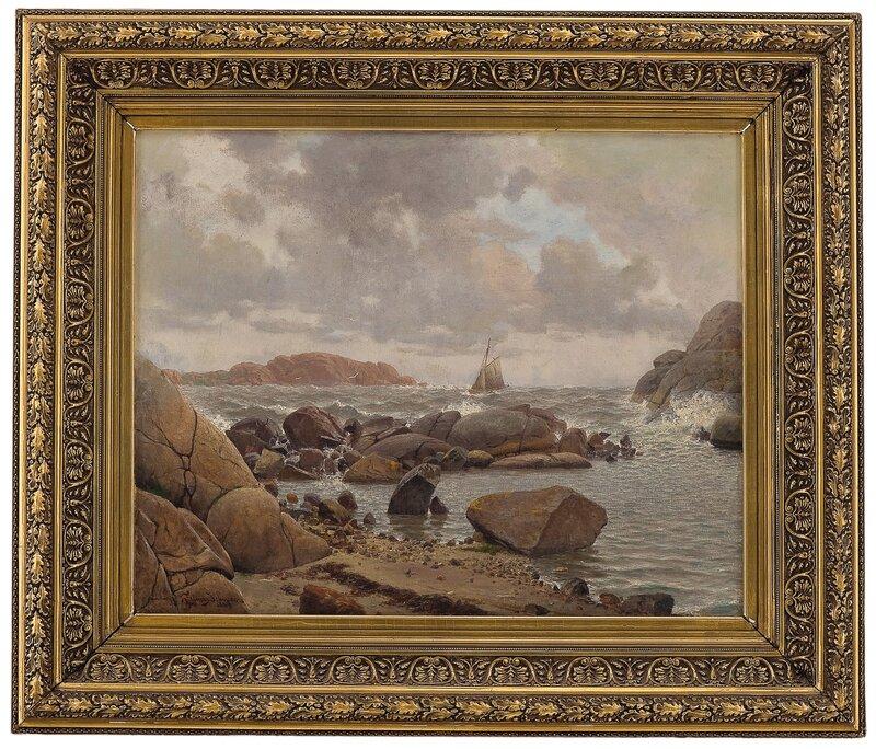 Innenskjærs, kuling, fra Stavern 1889