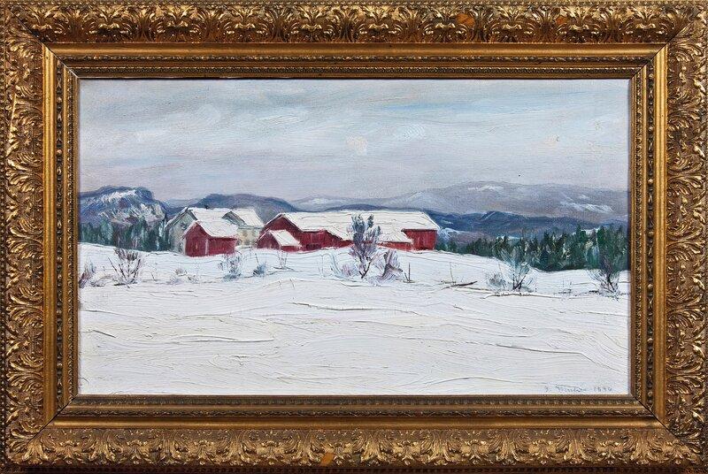 Småbruk i Asker, vinter 1896
