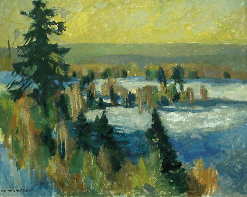 Vinterlandskap 1964