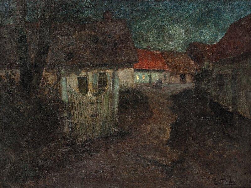 Fransk landsby i måneskinn
