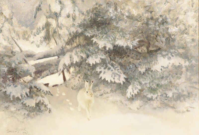 Hare i vinterdrakt 1922