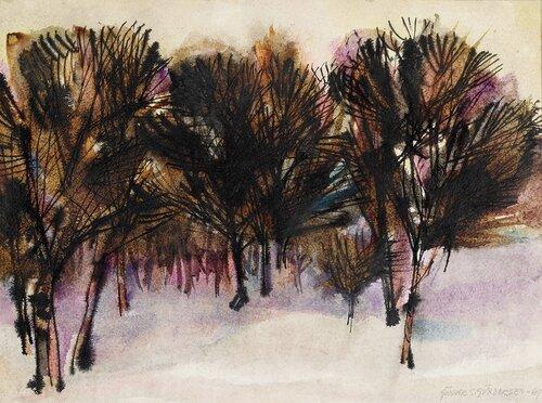 Landskap med trær 1961