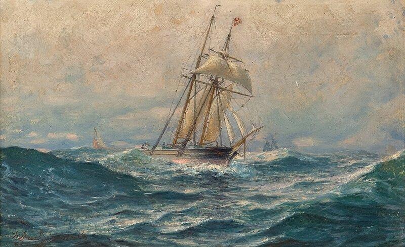 Slørende seilskip 1898