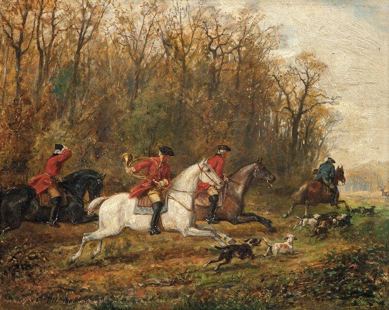 Jaktscene 1880