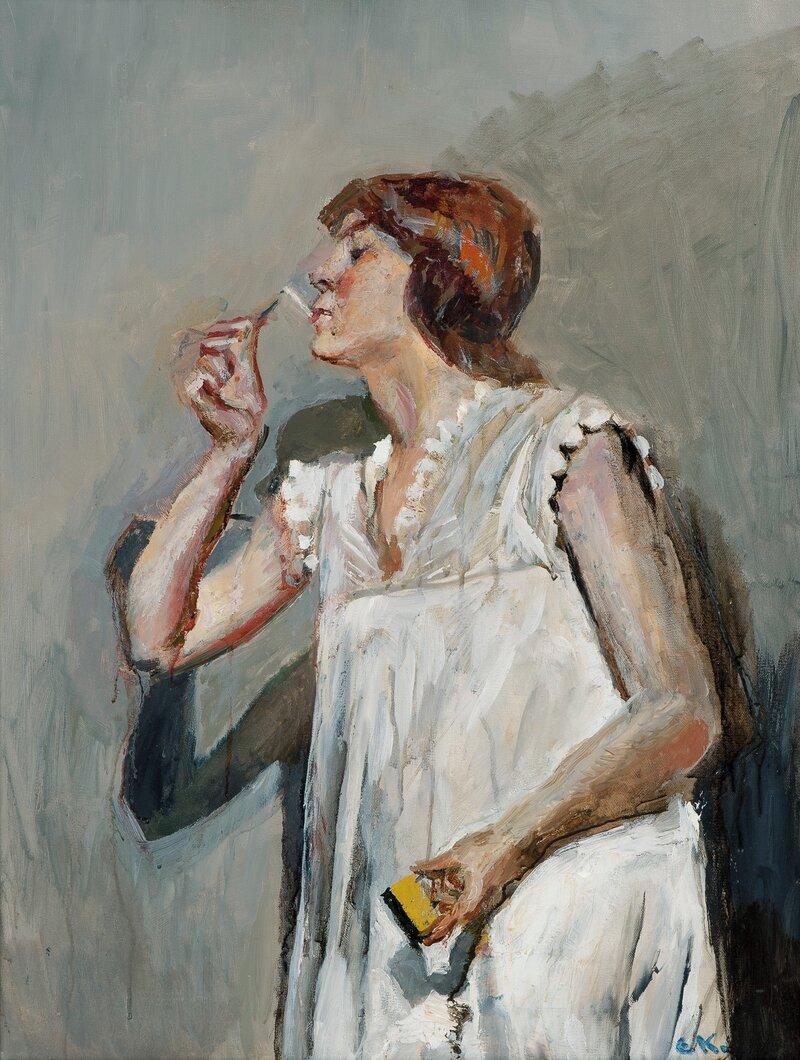 Kvinne med sigarett