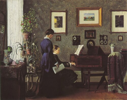 In the Music Lesson 1881