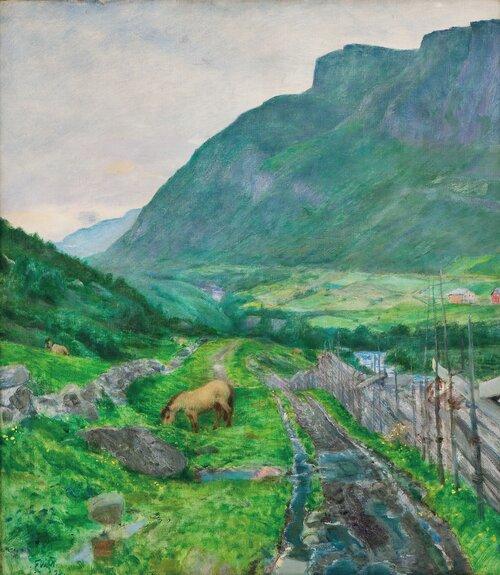 Fra den gamle veien, Skogstad, Valdres 1924