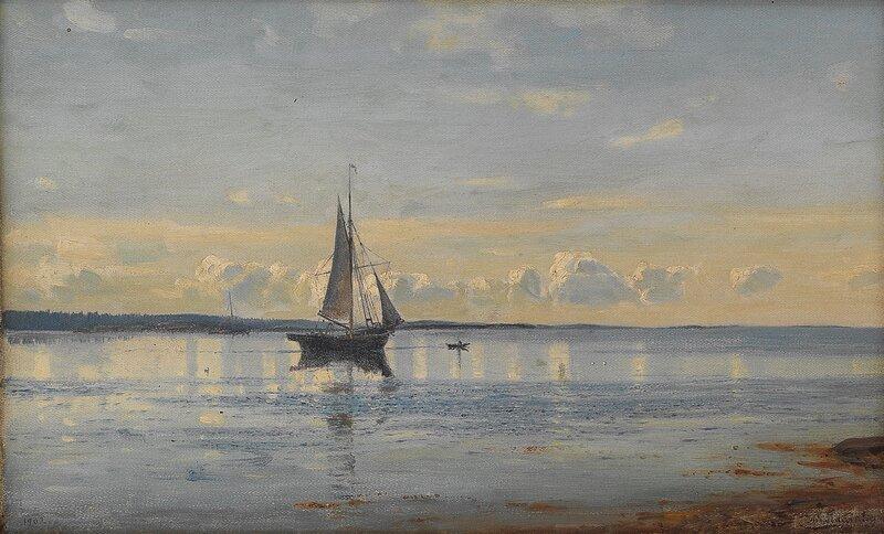 Morgenstemning utenfor Fredrikstad 1902