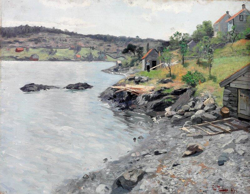 Norsk kystlandskap 1889