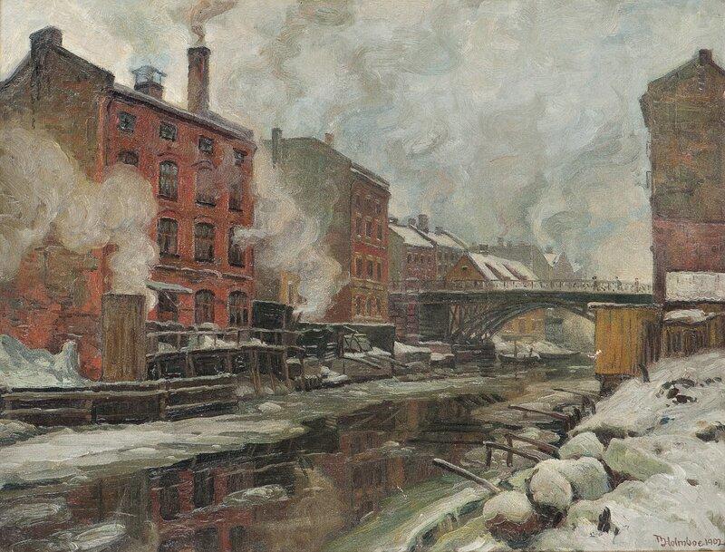 Fabrikker ved Akerselven 1902