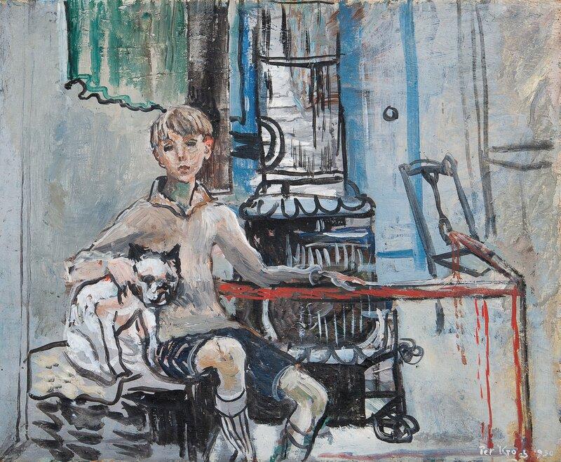 Guy i atelieret 1930