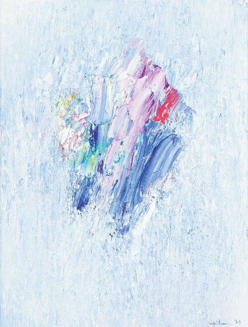 Komposisjon i blått 1970