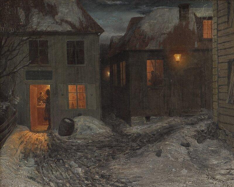 Småbyinteriør, Kragerø 1881