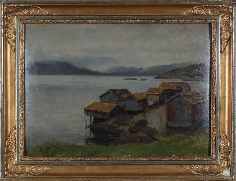 Coastal Landscape with Houses 1872