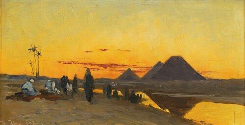 Ørkenlandskap ved Pyramidene 1885