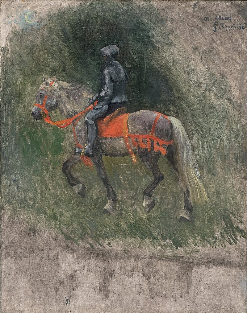 Studie til Ola Velland 1896