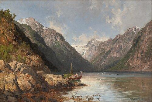 Vetlefjorden ved Balholmen 1886