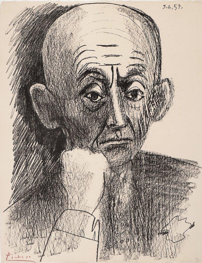 Portrett av D. H. Kahnweiler, II 1957