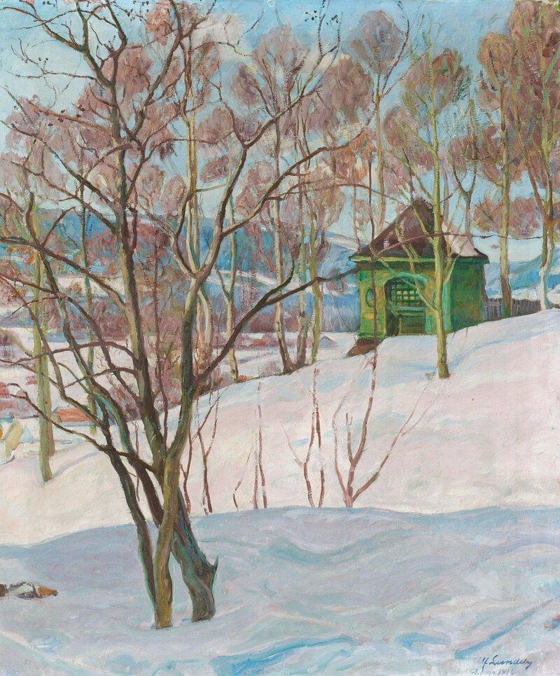 Lysthus ved Lillehammer, senvinter 1916