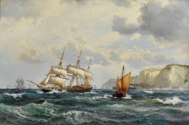 Skuter i kanalen ved den engelske kyst 1877