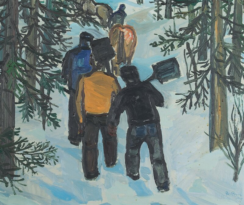 Arbeidere i granskog 1945