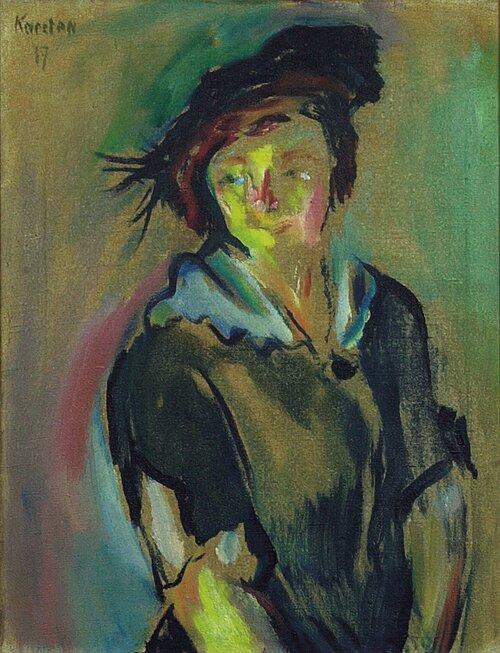 Kvinne med hatt 1917