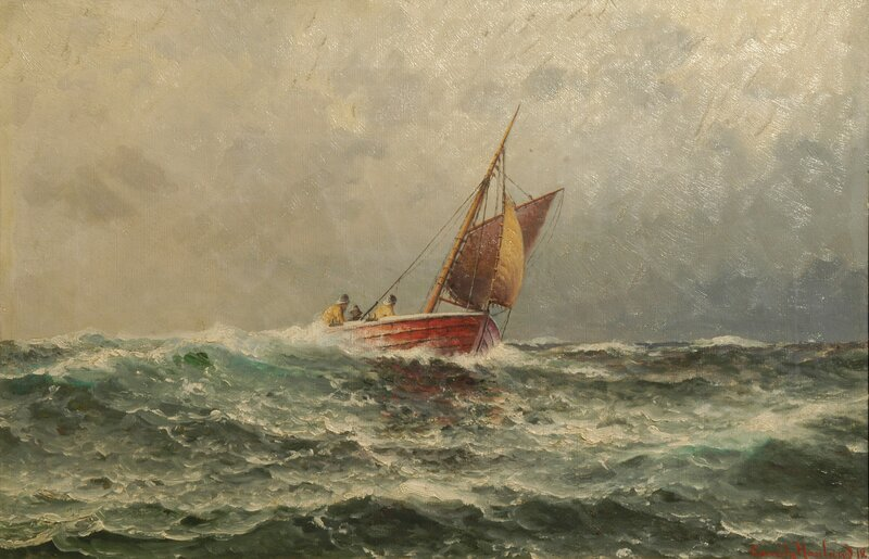 Losbåt i rom sjø 1918